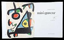 MIRO Joan 1893-1983   Catalogue de l'aeuvre gravé Daniel Lelong Editeur. Contient deux bois gravés originaux, la couverture est une lithographie. Volume II Exemplaire 1608/2000. Livre neuf
