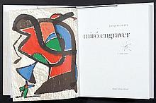 MIRO Joan 1893-1983   Catalogue de l'aeuvre gravé Daniel Lelong Editeur. Contient trois bois gravés originaux, la couverture est une lithographie. Volume I Exemplaire 798/2700, 1984