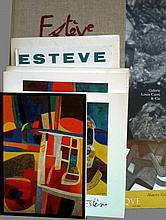 ESTÈVE Maurice 1904-2001   Lot de 10 ouvrages dont Galerie Louis Carré, 98; Galerie Claude Bernard,74 et 77; Galerie Nathan,82; Bouquinerie de l'Institut,94; Musée Cantini, Metz et Luxembourg, 81.......