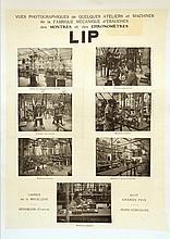ANONYME    Affiche ancienne. Photo des Usines Lip - 65 x 48 cm (Entoilée)