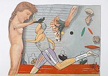 ANDREA Pat 1942-   Lithographie signée et numérotée au crayon 89/250. Composition pour les Jeux Olympiques, 1992 - 63 x 90 cm