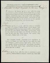 Attentat de la rue Nicaise contre Napoléon Bonaparte, deux lettres a en-tête du ministre de la police générale datées du 19 nivose et 2 pluviose An 9 pour Bruges signées