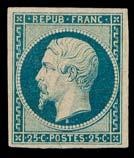 émission PRéSIDENCE. n°10, 25 centimes Bleu foncé, neuf.  Certificat Calves.  TB.