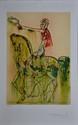 DALI Salvador, 1904 -1989 Le chevalier romain, planche extraite des Chevaux Daliniens lithographie en couleurs n° 45 / 200, signée en bas à droite. 41 x 29,5 cm.