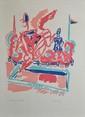 LAPICQUE Charles, 1898 -1988 Le passage de la baie lithographie en couleurs, E.A., signée en bas à droite. 47 x 38 cm.