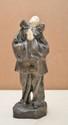 ALLIOT Lucien, 1877-1967 La prière de Pierrot bronze à patine argentée, visage et mains en ivoire, sur la terrasse : L. ALLIOT et le cachet de l'éditeur Unis France. Ht. : 16 cm.