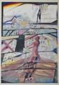 ASSADOUR, né en 1943 Sans titre, 1981 technique mixte et collage sur papier, signé et daté en bas à droite. 25 x 17,5 cm.