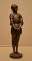 BARRIAS Ernest, 1841-1905 Jeanne d'Arc bronze à patine médaille, Susse Frères Fondeurs (petit accident à la chaîne), sur la terrasse : E. Barrias, la marque du fondeur avec une lettre : W et la légende : Vous avez pu m'enchaîner, vous n'enchaînerez