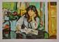 CORNU Pierre, 1895 -1996 La lecture lithographie d'interprétation en couleurs E.A. XVIII / XXX, signée en bas à droite. 46 x 67 cm.