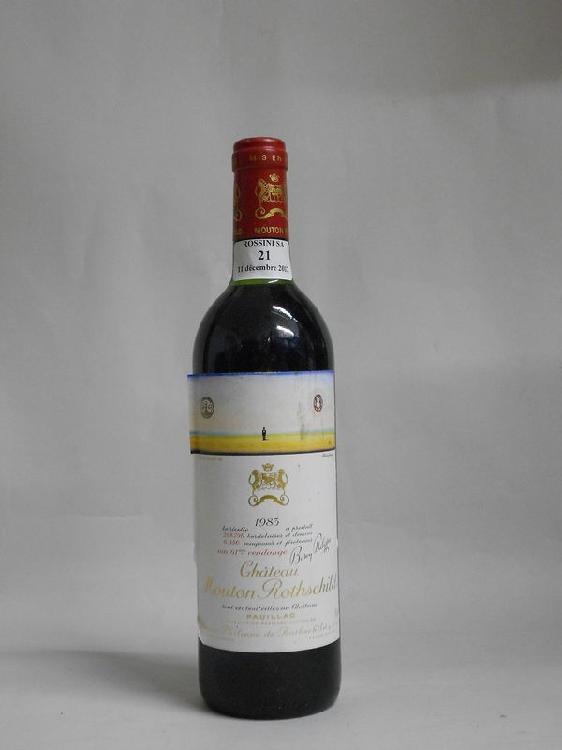 1 bouteille  CH. MOUTON-ROTHSCHILD, 1° cru Pauillac   1983   (elt, TLB)