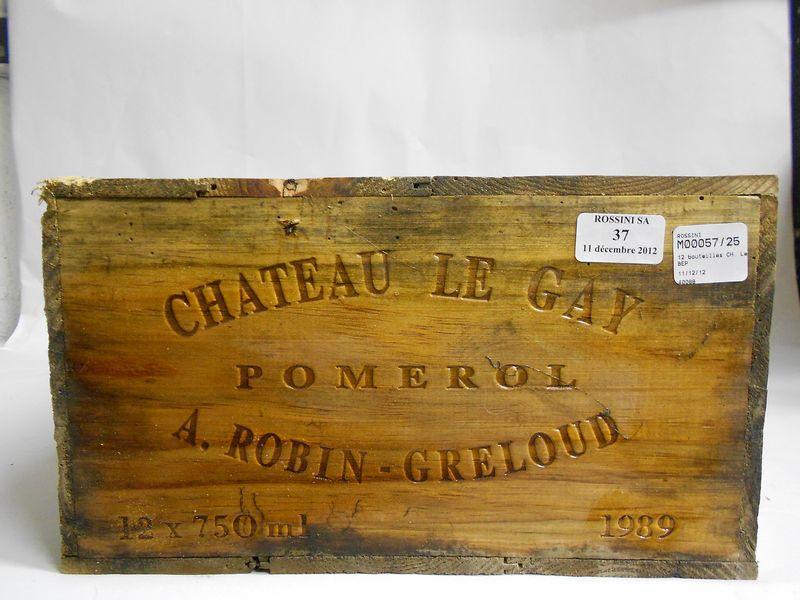 12 bouteilles CH. LE GAY, Pomerol   1989   cb