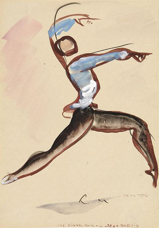 Gouache Drawing by Jean TOTH