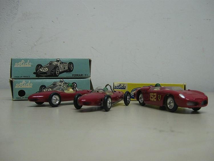 SOLIDO Ferrari F1 Ref. : 122 x 2.    SOLIDO 215 Ferrari Ref. : 129.