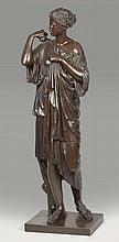 ANONYME XIXe siècle par BARBEDIENNE - Diane de Gabi - bronze à...