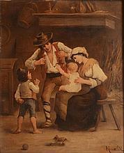 RINALDI - Le pantin - Les premiers pas - deux huile sur toiles...
