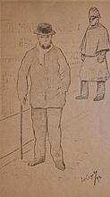 Frédéric Auguste CAZALS - Verlaine à Londres, 1894