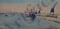 PINATEL Raphaël, 1875 -1933 Port de Casablanca, 1930 - Verger à Bourbonne, 1926 - Le château de Carcassonne, 1926 - Le parc de Saint-Cloud, 1926 quatre aquarelles (une avec des mouillures), signées, situées et datées en bas à droite, de 22 x 46 à 35