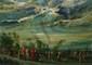 Réunion à la campagne huile sur isorel (manques), signé en bas à gauche,  33 x 41 cm.