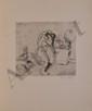 VALADON Suzanne, 1865 -1938 Catherine nue se coiffant, 1895 vernis mou en noir (petites rousseurs), signé et daté à l'envers en haut à gauche dans la planche, signé en bas à droite, 22 x 24 cm. BIBLIOGRAPHIE : L'oeuvre complet de Suzanne Valadon,