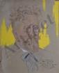 ABOUGIT Marcel, XXe siècle Portrait de R. Pinatel à Rabat, 5.5.1928 pastels et gouache sur papier gris (manques et taches), signé, situé et daté en bas à droite avec envoi, 50 x 41 cm. On y joint un portrait de R. Pinatel par un anonyme et une