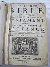 La Saint-Bible with New Testament, 1705, calf, (a
