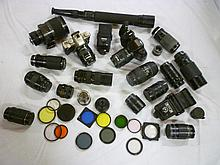 A large and comprehensive Pentax camera outfit wi