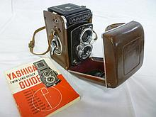 A Yashica-Mat twin lens camera