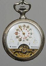 A Continental eight day pocket watch The reverse