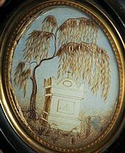 A 19th century memento mori miniature The central