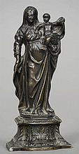 A Grand Tour patinated bronze figural group Forme