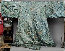 A late 19th century Chinese silk robe The blue gr