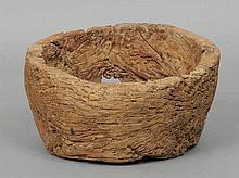 An 18th/19th century rustic elm bowl