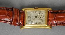 A Longines gentleman's wristwatch The rectangular