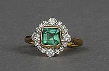 An Art Deco style 18 ct gold and platinum, diamon
