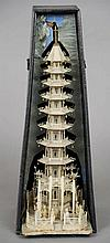 A large intricately carved Chinese ivory model of