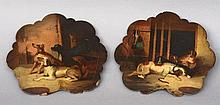 A pair of 19th century painted papier mache hand
