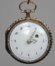 A 19th century diamond set, gold verge pocket wat
