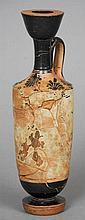 An ancient Greek pottery Lekythos, circa 500 BC O