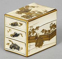 A 19th century Japanese gilt decorated ivory mini