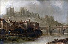 C.T. MOORE (19th century) British Richmond Castle, Yorkshire Oil on canvas Signed, inscribed and dated to verso 1878 23.5 x 16.5 cm, framed