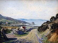 WILLIAM GUTHRIE (19th/20th century) British Loch Ramza From the Cock of Arran Road Watercolour and bodycolour Signed, inscribed with title to verso and dated April 1923 44.5 x 34 cm, framed and glazed