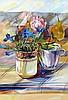 *AR ELIZABETH JANE LLOYD (1928-1995) British Flowers on a Table Watercolour Old label to verso for Mercury Gallery, Cork Street, London 23 x 34 cm, framed and glazed, Elizabeth Jane Lloyd, £200