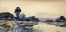 FRANCIS GORDON FRASER (1879-1940) British On The Ouse Watercolour Signed 49.5 x 25 cm, framed and glazed