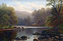 WILLIAM MELLOR (1851-1931) British On the Wharfe, Yorkshire Oil on canvas Signed, inscribed to verso with title 75 x 49.5 cm, framed