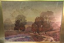 A.H. NEWTON (19th century) British Burnham Beeches Watercolour Inscribed and dated 1856 to mount 45 x 32 cm, framed and glazed
