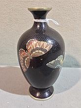 A small Chinese cloisonne vase Decorated with butt