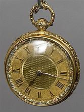 An 18 carat gold cased gentleman's pocket watch Th