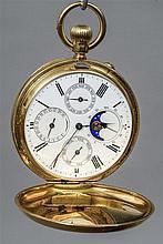 A Victorian 18 ct gold cased full hunter calendar