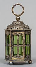 A 19th century Dutch Export silver and green glass
