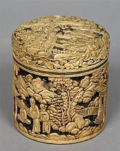 A 19th century Chinese white cinnabar lacquer box